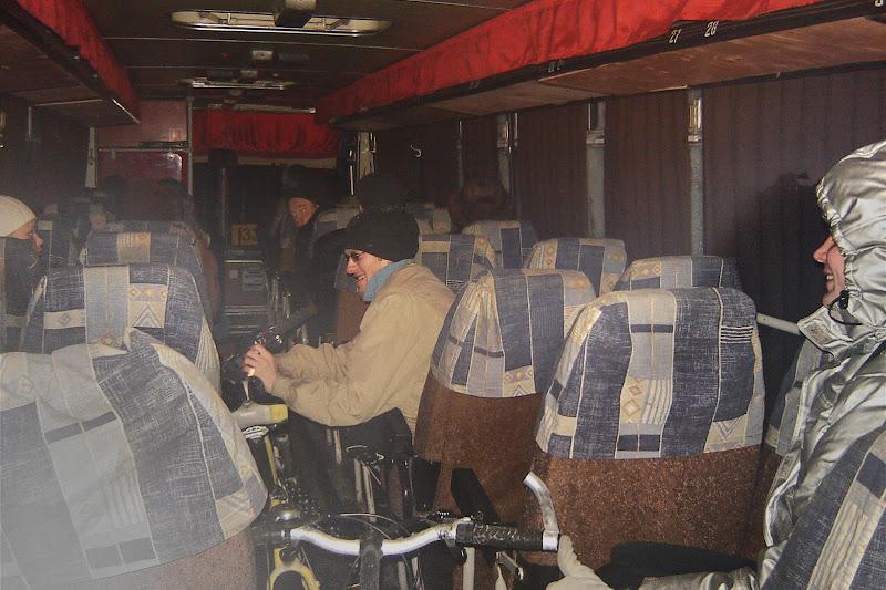 Едем в автобусе домой