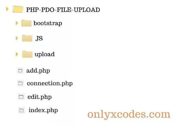 PHP PDO File Upload Project Directory Structure Within xampp/htdoc folder