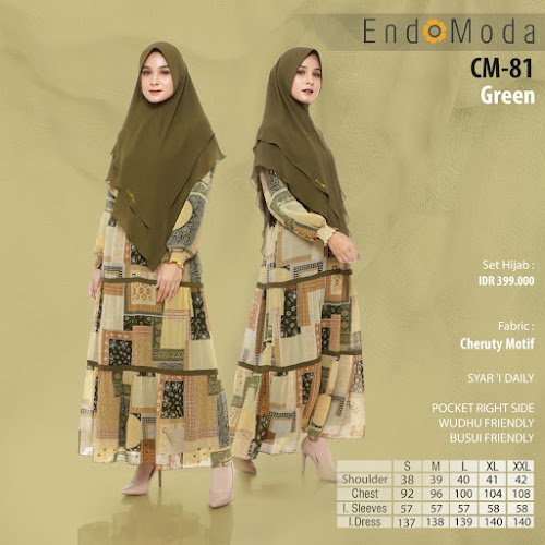 Endomoda Gamis CM 81 Green Promo