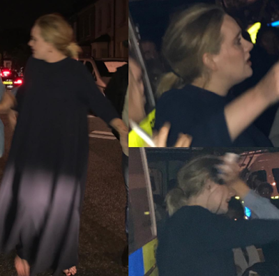 Adele spotted at the scene of London fire, hugging and comforting people (photos)