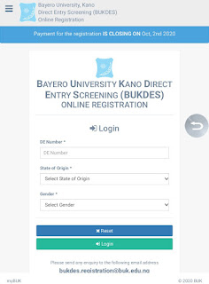 how to apply buk direct entry admission screening registration