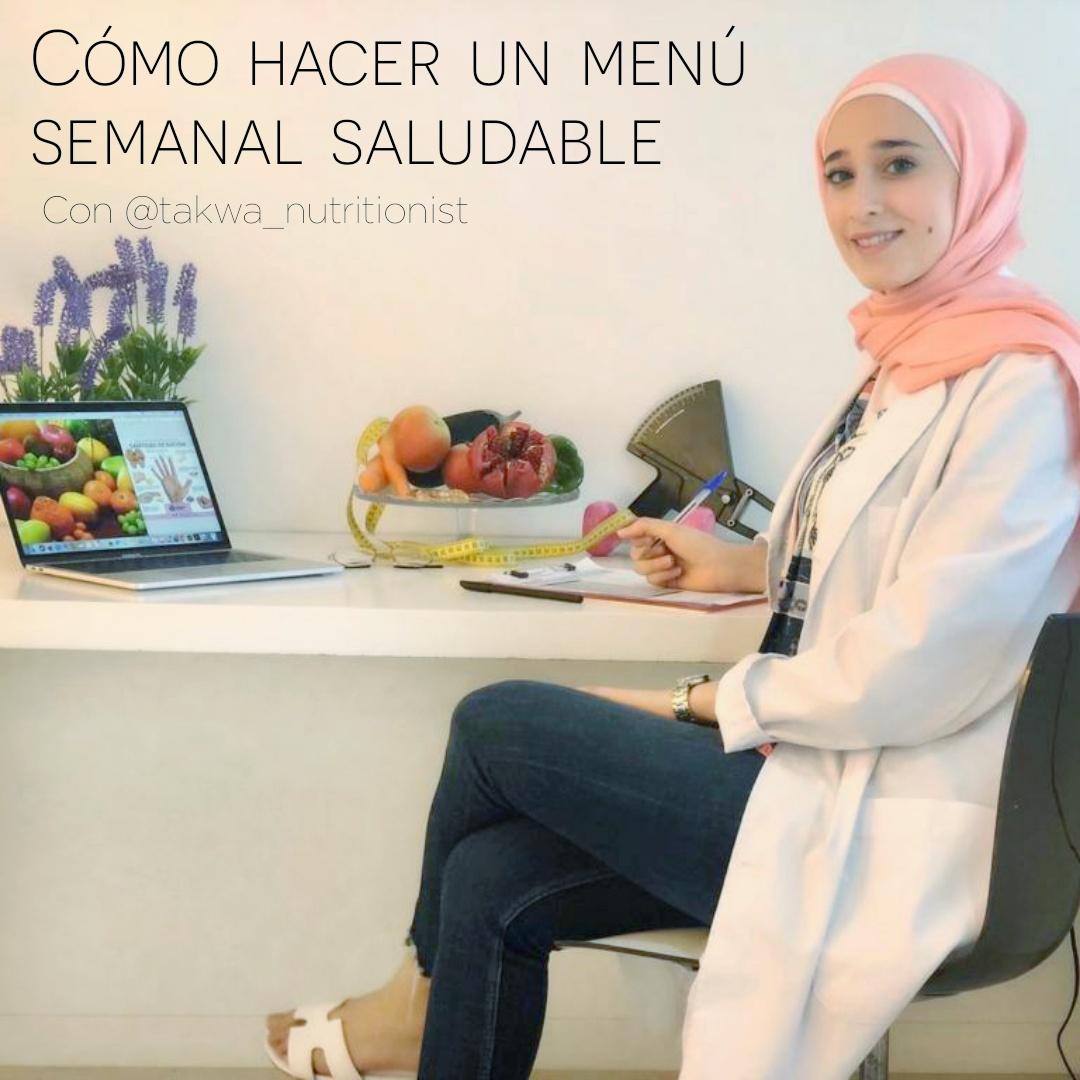 Cómo hacer un menú semanal saludable