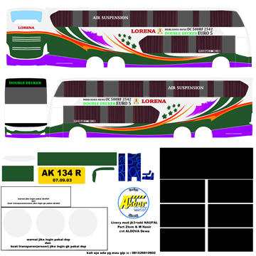 livery lorena jb3+sdd voyager bussid