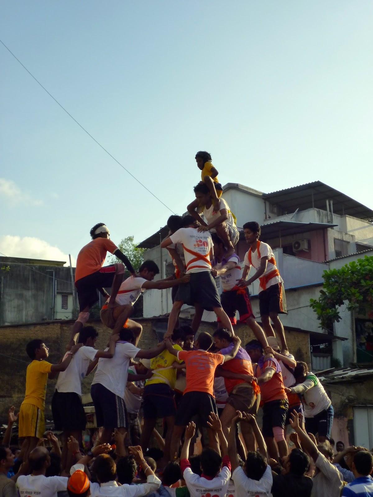 Mumbai Moments Human Pyramids To Celebrate Lord Krishna S