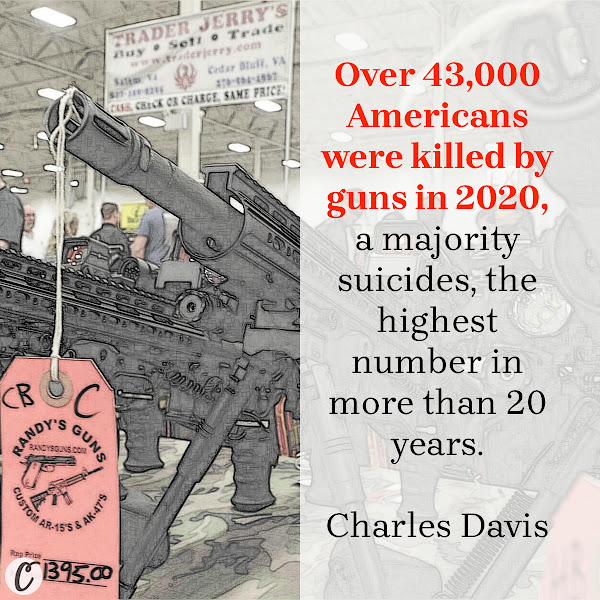 Over 43,000 Americans were killed by guns in 2020, a majority suicides, the highest number in more than 20 years. — Charles Davis, Business Insider Senior Reporter