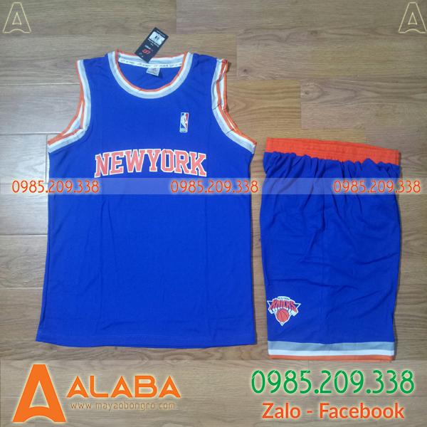 Áo bóng rổ New York Knicks màu xanh hot