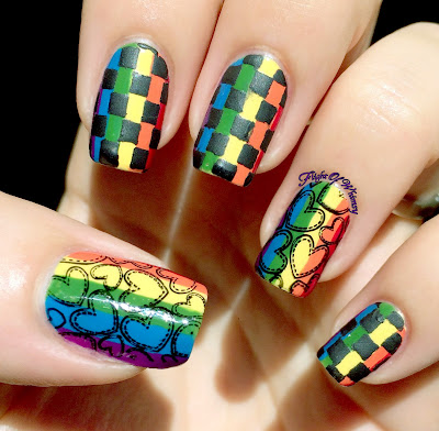 Checkerboard nails