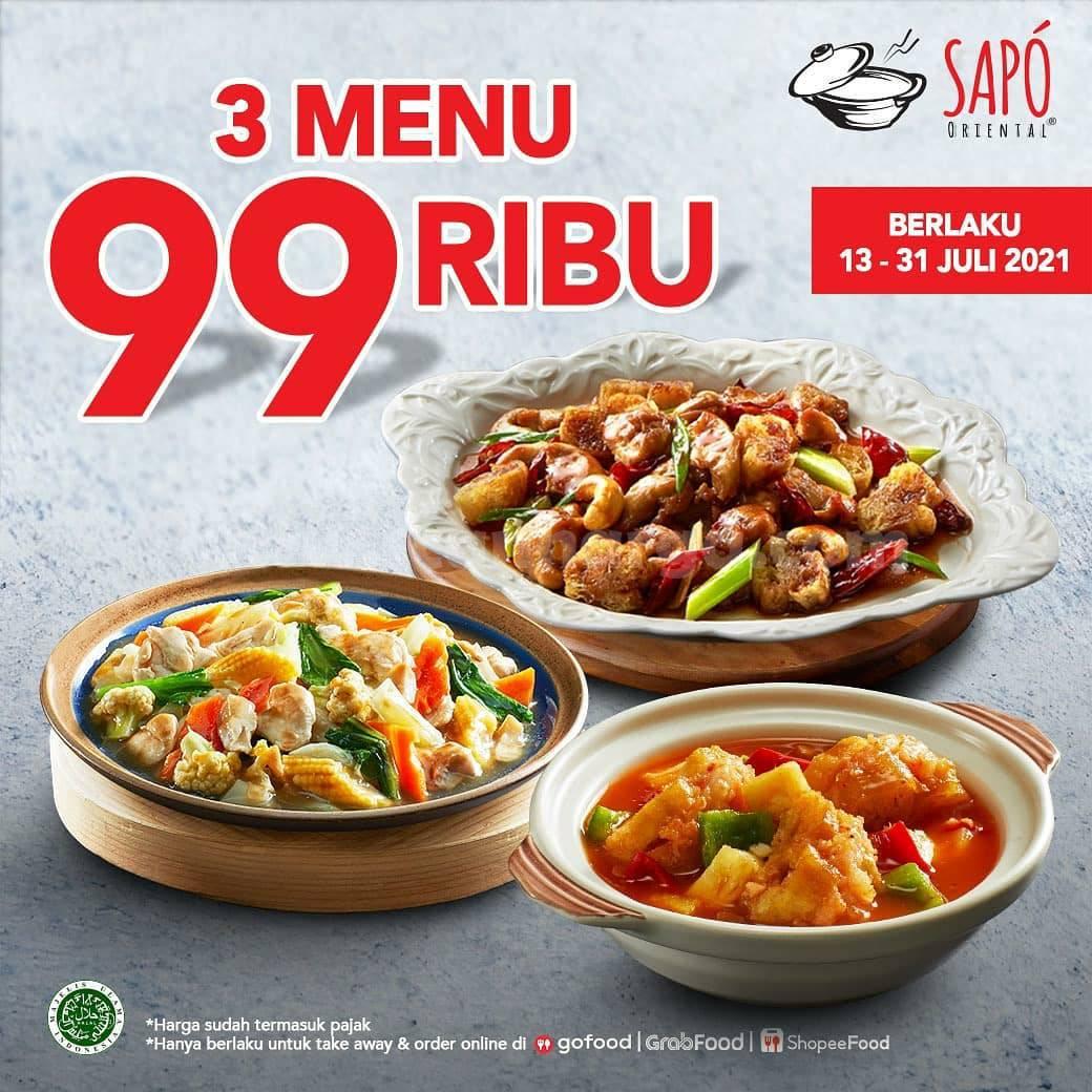 Promo SAPO ORIENTAL 3 Menu Rp 99 Ribu