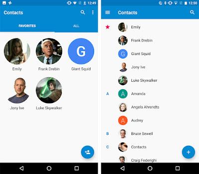 جوجل تحدّث تطبيق جهات الاتصال Contacts بتصميم جديد