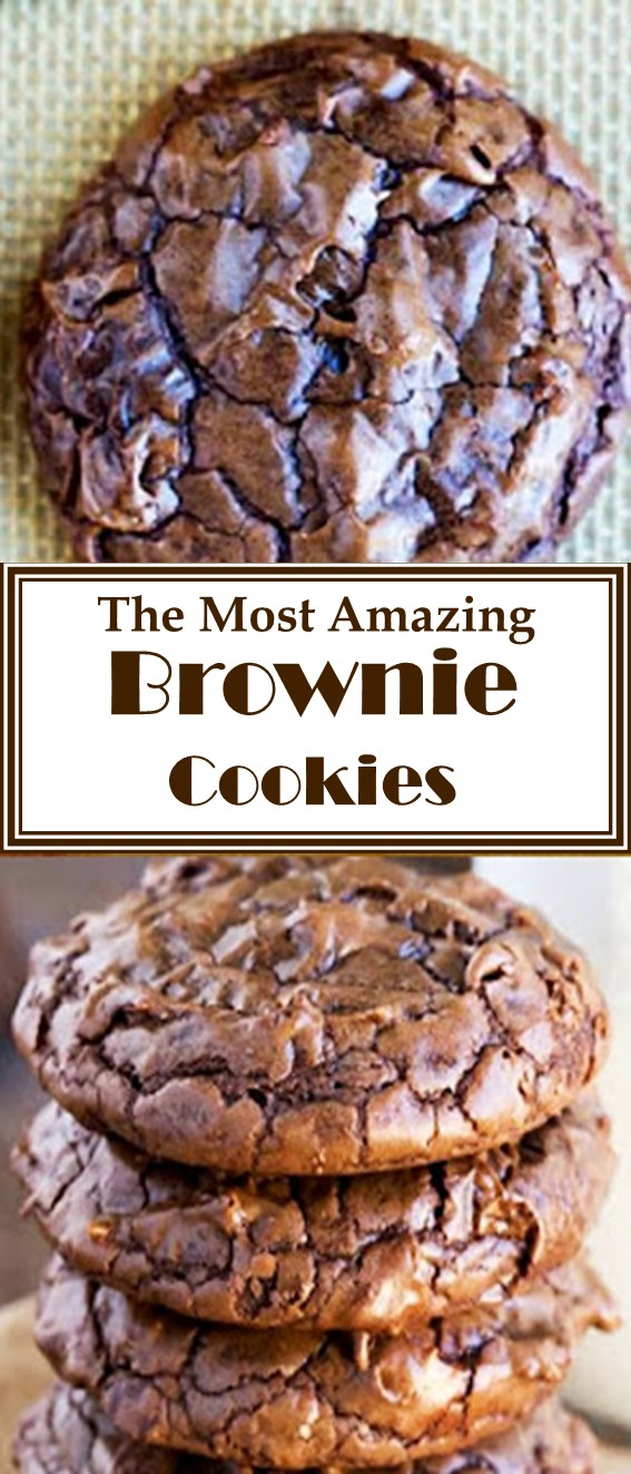 The Most Amazing Brownie Cookie Recipe #Brownies #Cookies #Chocolate