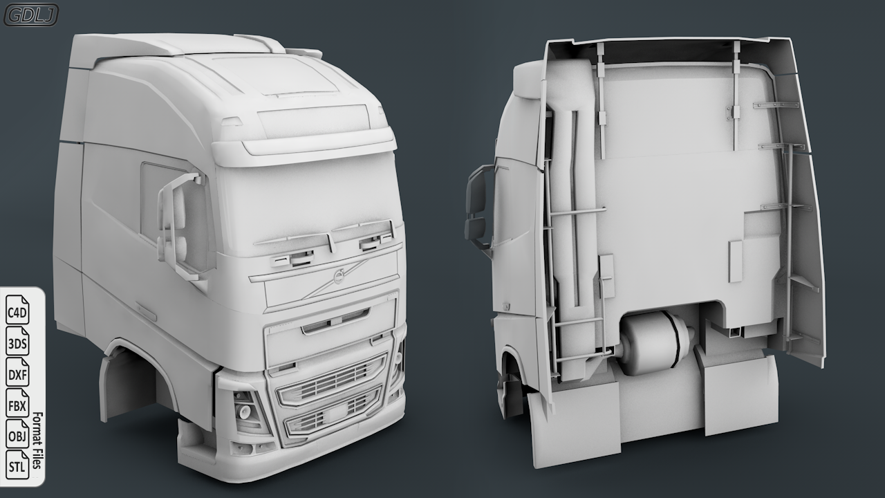 Volvo FH16 Cabin 3D Model Ready to 3D Print