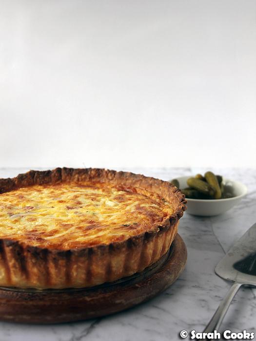 Raclette tart