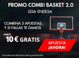suertia promo 10 euros combi basket Liga Endesa 8-9 abril