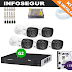 KIT DVR Intelbras 8 Canais Multi HD+5 Câmeras HDCVI VHD 1120B G2+ HD 1TB