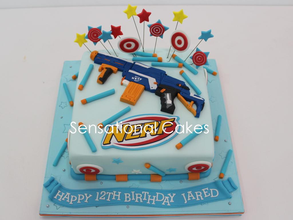 The Sensational Cakes Nerf Gun Theme 3d Cake Sugar