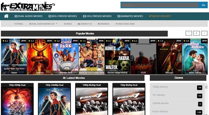 ExtraMovies - Hindi Dubbed Hollywood, Bollywood 300MB Movies Download