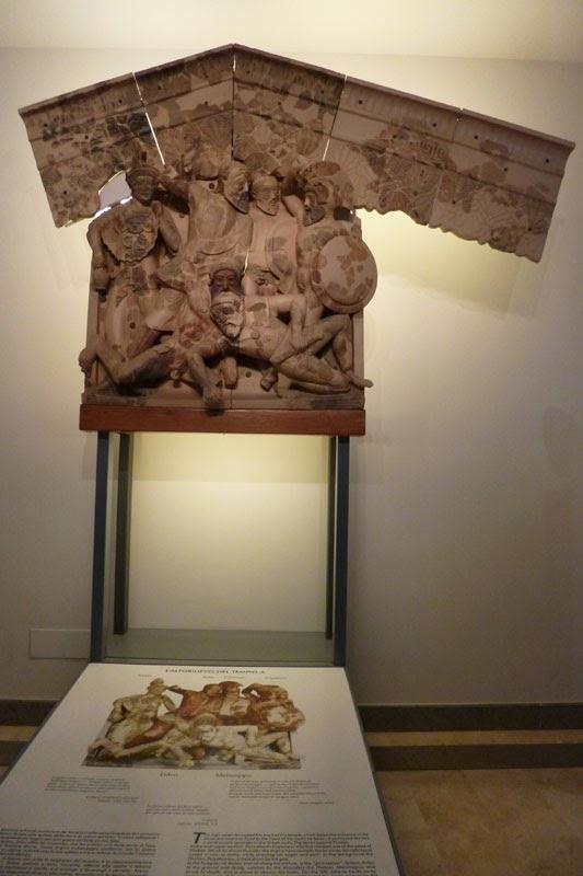 Fragmentos do santuário de Pyrgi, cidade etrusca, Cere, perto de Roma