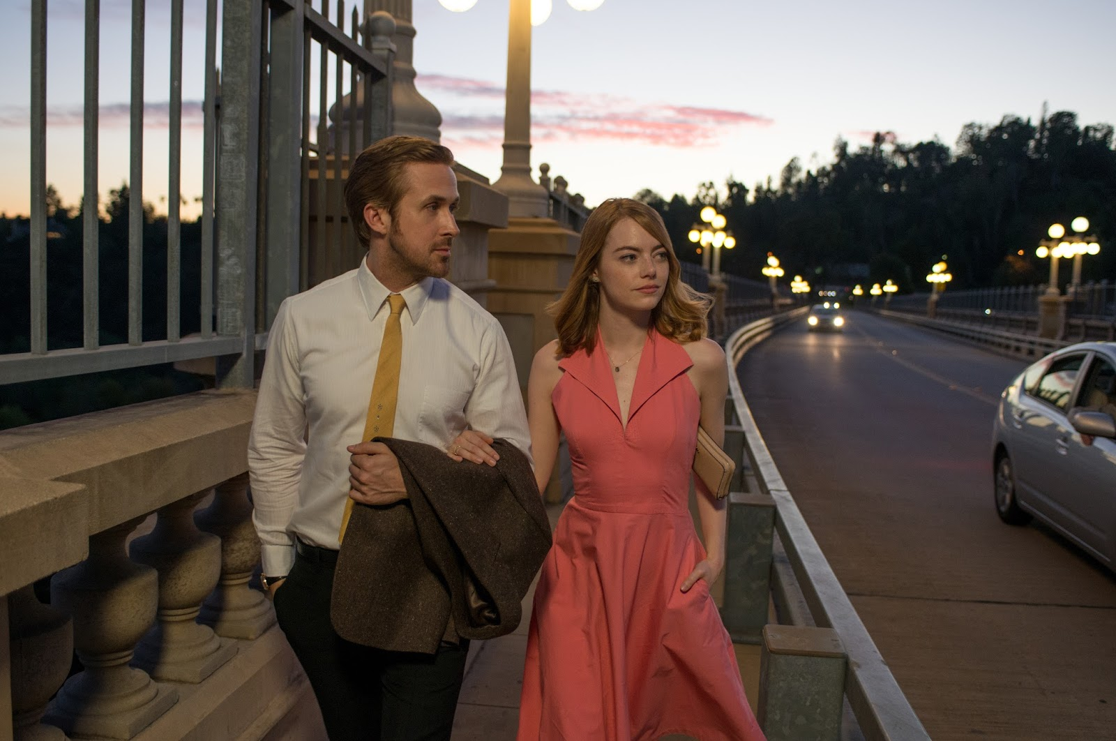 Ryan Gosling y Emma Stone - LaLaLand Vestido durazno
