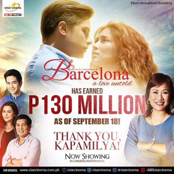 Barcelona: A Love Untold earns P130 million after five days in theaters