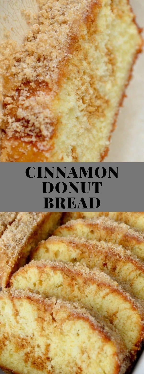 CINNAMON DONUT BREAD #American #Bread #buttermilk #cinnamon #molasses