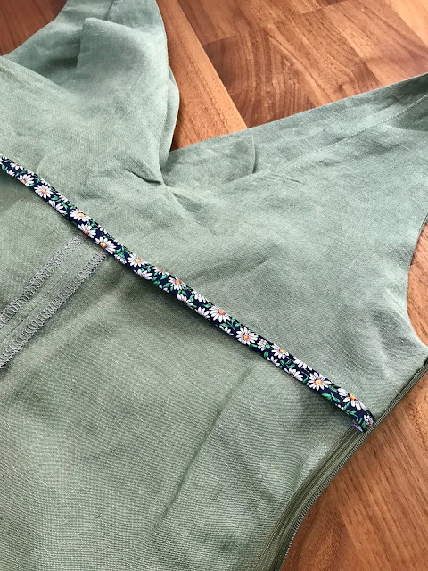 Diary of a Chain Stitcher: Papercut Patterns Sierra Jumpsuit in Leaf Green Linen Rayon Chambray from The Fabric Store