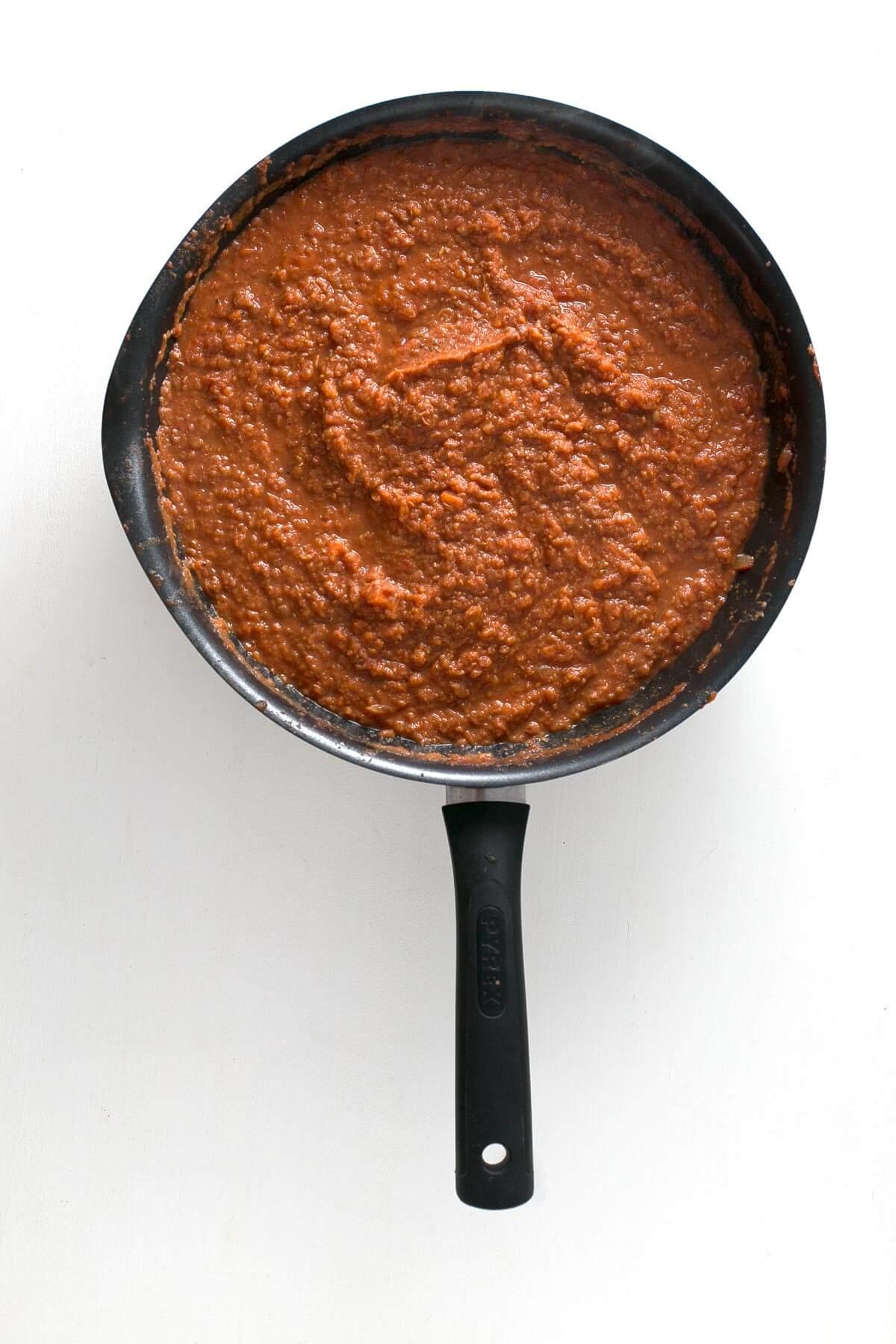 Ragout or lentil bolognese.