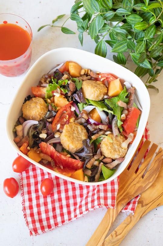 recette Salade fraîcheur et camembert pané