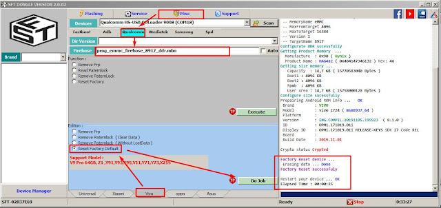 Cara Membuka HP VIVO Y71 Yang Terkunci
