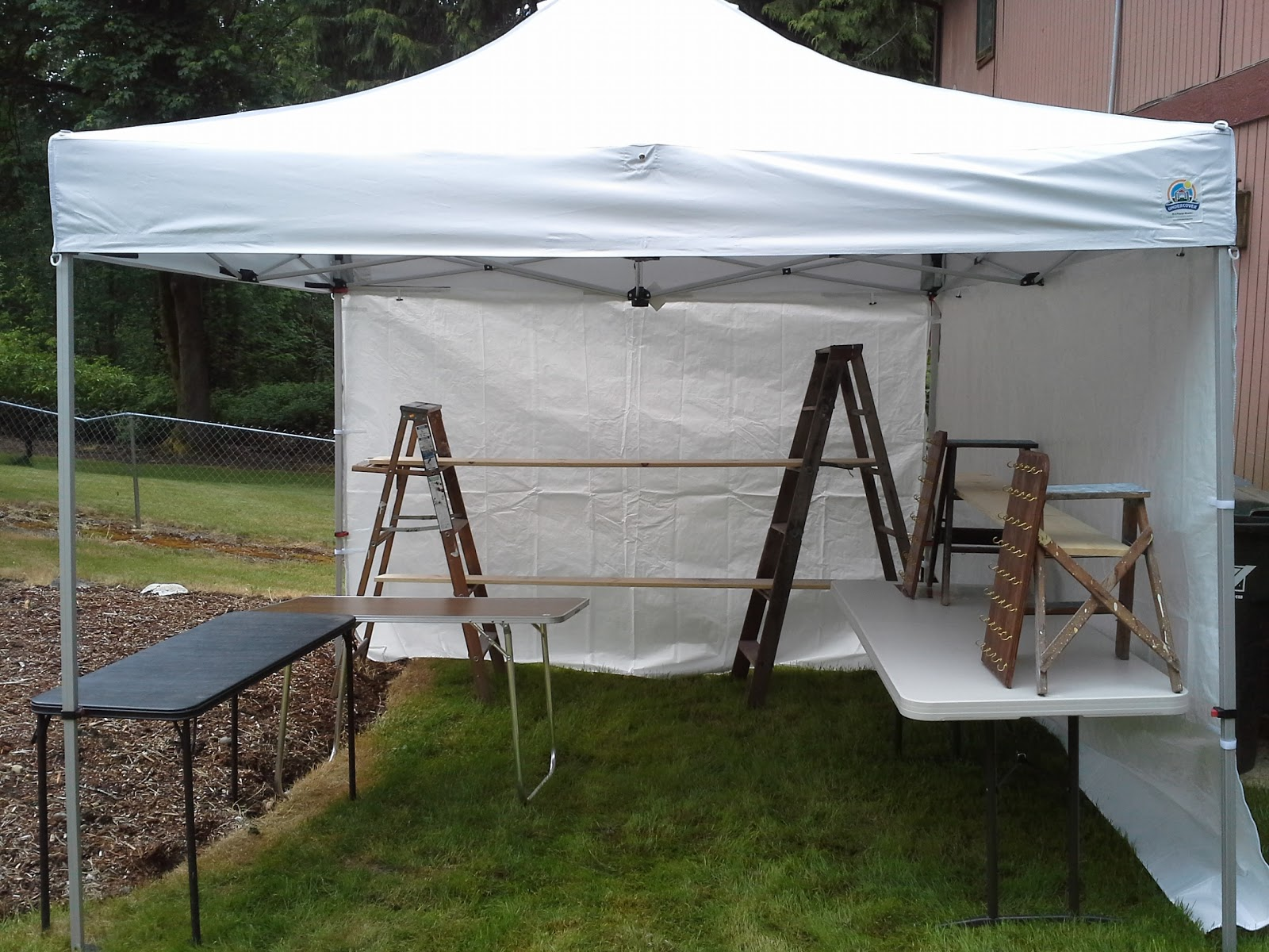 Re-Covered Treasures Blog: Working on my booth set-up and