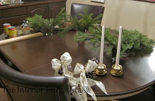 Embellishments to make a festive pallet board centerpiece