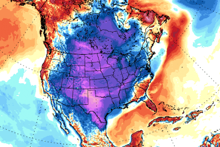 'Arctic April' grips North America breaking hundreds of all-time cold records