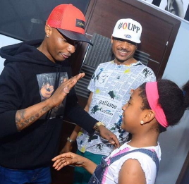 wizkid visit shina peller daughter