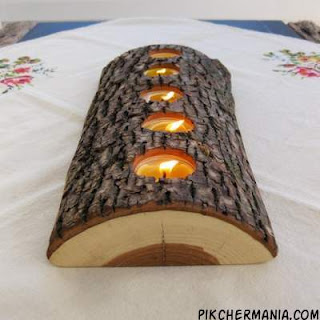 beautiful Tealight Wood Candle Holder