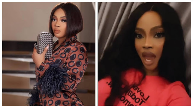 Off that song. I reject it in Jesus name - Toke Makinwa reacts to song that says Don't need a man that'll give you money