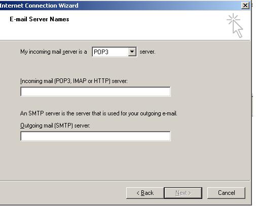 hmailServer client setup -Outlook Express | InRoads