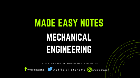 Made Easy Printed Notes for Mechanical Engineering