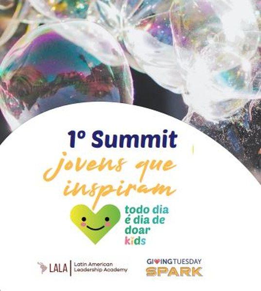 """O Primeiro Summit Jovens que Inspiram, realizado pela Plataforma para Gentileza e Generosidade - Todo Dia é Dia de Doar Kids, é um encontro de articulação de jovens engajados em causas sociais para debater prioridades e endereçar soluções para um Brasil mais gentil e generoso com base nos resultados da edição 2021 da pesquisa """"Três Coisas que eu Quero Melhorar no Mundo""""."""