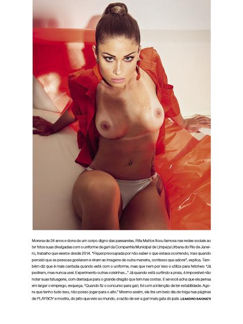 Rita Mattos gari gata nua pelada na playboy de setembro 14