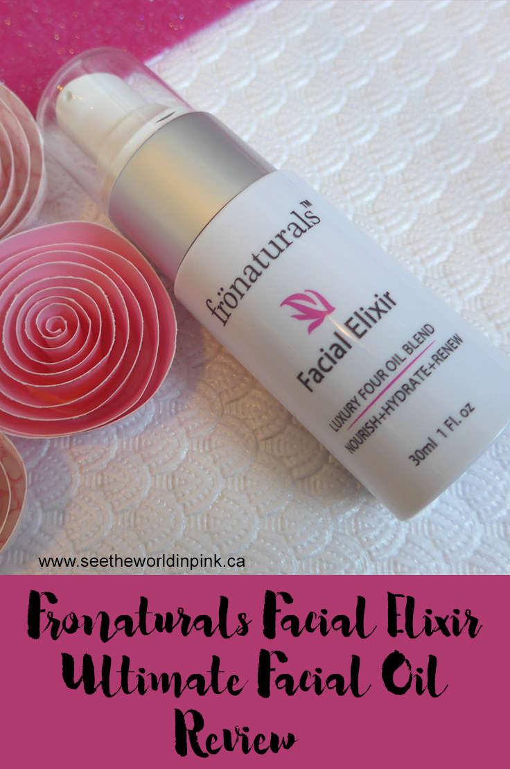 Skincare Sunday - Fronaturals Facial Elixir Review