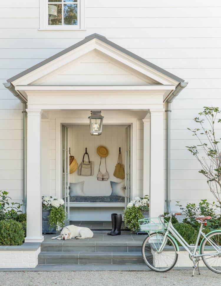 Breathtaking white modern farmhouse style home in Atherton by Giannetti Home - found on Hello Lovely Studio