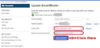 how to update mobile number in my flipkart account