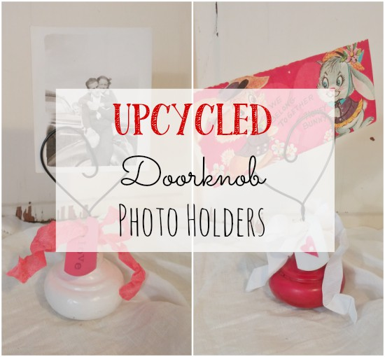Upcycle an old doorknob to make an adorable photo holder!