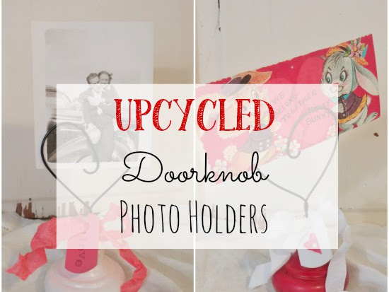 Upcycled Doorknob Photo Holders
