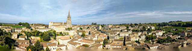 Panorama of UNESCO World Heritage Rated Saint Emilion France