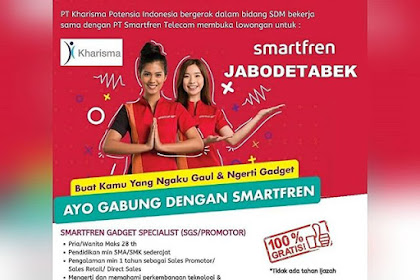 Info Lowongan Kerja SPG/SPB Promotor Smartfren