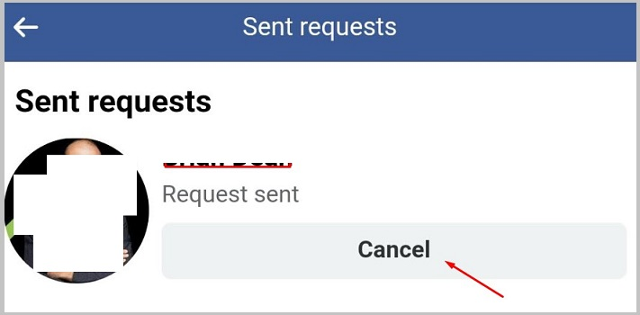 cancel requests on iphone