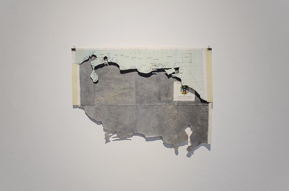 Mapa de Venezuela invertido de Manuel Eduardo González