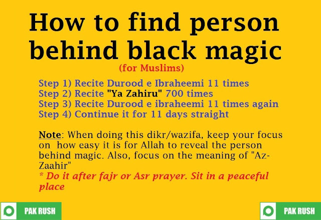 How to find who has done black magic on you
