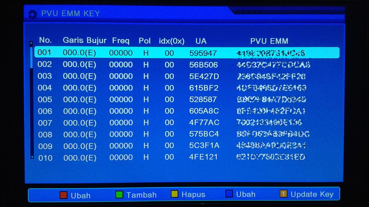 Format Penulisan EMM Key di Matrix Sinema HD