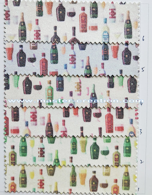 wine bottles printing fabric